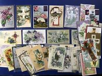 EASTER Large Lot 43 Antique Postcards 1900s. Collector Items. Religious. Value.