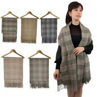Winter Scarf Soft Unisex Scarves Shawl Wrap Tartan Check Plaid Blanket Oversize