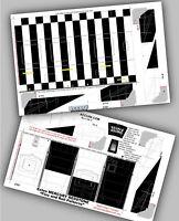 "Accur8 Super Detail ""Roll Patterns"" for Estes Mercury Redstone Model Rocket"