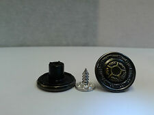 10 X 17mm Hammer On Denim Jeans Buttons Brass Based with Tack Alloy New