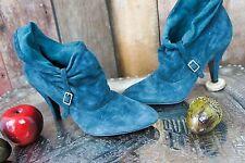 NINE WEST * Pumps * gekrempelter Schaft * Waldelfe * Blaugrün * Samtig Weich 40