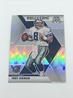 Troy Aikman 2020 Panini Mosaic Hall of Fame Silver Prizm #290 Dallas Cowboys HOF