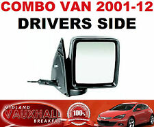 VAUXHALL COMBO C Van SPECCHIETTO RETROVISORE ESTERNO MANUALE NERO Drivers OFF LATO DESTRO