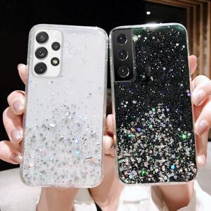Glitzer Handyhülle für Samsung Galaxy S21/S20/S10/A72/A52/A32 Schutz Soft Case