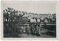 Wehrmacht. Brückenbau, Originalfoto um 1940