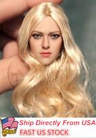 """US 1/6 KIMITOYS KT004 Girl's Head Sculpt Long Hair F 12"""" TBLeague PHICEN Body"""