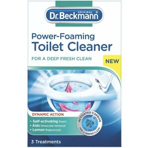 Dr Beckmann Power-Foaming Toilet Cleaner, 3 x 100g Treatments - For A Deep Clean