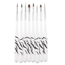8Pcs Professional Nail Art Dotting Pens Nail Polish Brushes Drill Point Pen