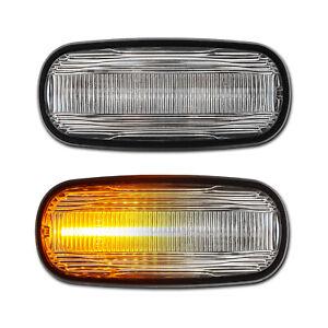 WEISSE dynamische LED Seitenblinker Land Rover Defender Freelander Discovery MG