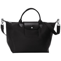 NEW Longchamp Le Pliage Neo Crossbody Tote Handbag in M Medium - Black Blue Red