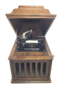 Antique Vintage Edison Amberola VIII 8 Cylinder Phonograph Nice Working