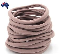50pcs-Nude Nylon Headband-One-size-fits-all-Baby-Soft-Thin-Stretchy-AU Seller