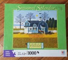 Charles Wysocki Jigsaw Puzzle Seasonal Splendor Sweetheart Chessmate House Horse