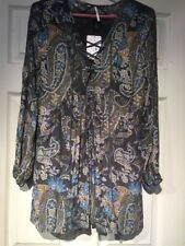 Free People Minidress, Black Size XSmall. 0B462988. Floral Long sleeve Embroider