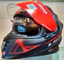 LS2 Helmets - FF302 -Hyperion Black Red - Full Face Dual Visor Motorcycle Helmet