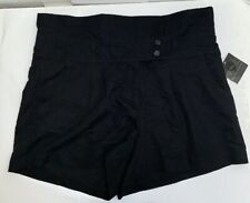 Apostrophe Womens NWT Black Shorts 14P Petites Cotton Stretch Office Casual