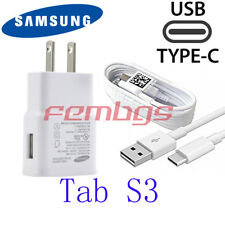 Original OEM Samsung Galaxy Tab S3  USB  2A Wall Charger Adapter + Type C Cable