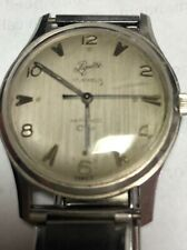 Vintage Piquette Wrist Watch 17 Jewels made France with Metal Expansion Band