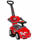 Deluxe Mega 3 in 1 Car Children's Toy Stroller  Walker in Red w/ Working Horn