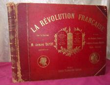 LA RÉVOLUTION FRANÇAISE Armand Dayot in folio format à l'Italienne Gravures
