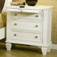 Coaster 201302 - Sandy Beach Night Stand with 3-Drawers - White