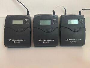 3x SENNHEISER EW100 G2 SK100 Funkstrecke 786-822 MHz Taschensender Body-Pack