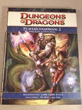 PLAYER'S HANDBOOK 2 Dungeons & Dragons RPG Core Rules D&D 2009 Hardback book