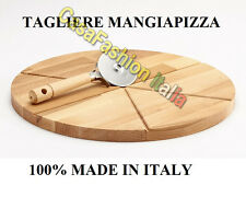 198072 TAGLIERE MANGIA PIZZA & POLENTA DM.35 BISETTI FAGGIO LEGNO PROFESSIONALE