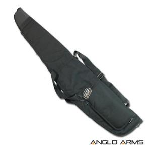Padded Air Rifle Gun Carry Case + Pocket Black Gunslip Shotgun Bag Scope NGT