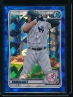 JASSON DOMINGUEZ 2020 Bowman Chrome Draft SAPPHIRE REFRACTOR Yankees Rookie RC
