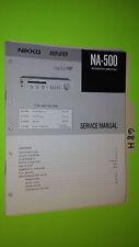 Nikko na-500 service manual original repair book stereo amp amplifier