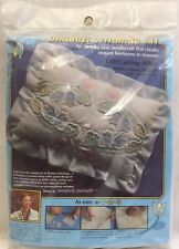 """Vintage 1983 Shadow Stitching Embroidery Kit """"Crib / Carriage Pillow"""" Baby 2000F"""
