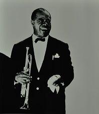 Chargesheimer Original 1961 30x40cm Louis Armstrong B&W Photo Print Konzert Köln