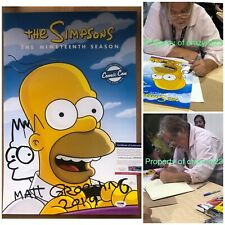 Matt Groening Signed SDCC Simpsons Poster Bart Sketch Autograph PSA COA Proof