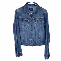 Lucky Brand Denim Jacket Women's Small Blue Button Front Dungarees Medium Wash