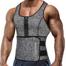 Men's Sweat Sauna Vest Waist Trainer Body Shaper Tank Top Compression Shirt Belt