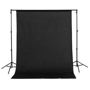 1.5x3m/5x10ft 100% Cotton Muslin PRO Photo Photography Backdrop Background Black