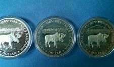 1985 S$1 National Parks (Special Strike) Canada Dollar lot of 3