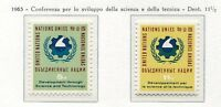 19050) UNITED NATIONS (New York) 1963 MNH** Nuovi** Science