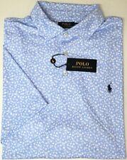 NEW $110 Polo Ralph Lauren Short Sleeve Blue White Shirt Mens Floral Cotton NWT