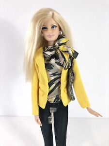2012 Barbie Tim Gunn Collector Pink Label Yellow Jacket & Jeans Model Muse