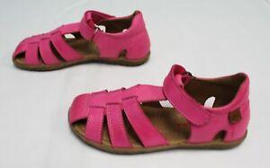Naturino Girls Hook & Loop Cross-Strap See Sandals FR7 Fuchsia Size US:13 EUR:31