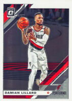 Damian Lillard 2019-20 Donruss Optic Chrome Base Card #7 Portland Trail Blazers