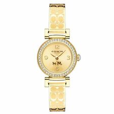 Coach Womens Madison Fashion Gold Bangle Quartz Watch 14502202