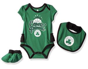 NBA by Outerstuff Infant Bodysuit, Bib & Bootie Set, Boston Celtics, 24mo