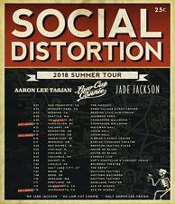 "SOCIAL DISTORTION / AARON LEE TASIAN ""2018 SUMMER TOUR"" CONCERT POSTER-Punk Rock"