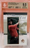 Gem Mint Tiger Woods RC 2001 SP Authentic Preview GOLD LABEL BGS 9.5 #51 Rookie