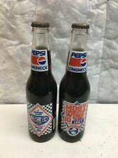 2 Full Pepsi bottles Richard Petty Winston Cup victory bottles Free Shipping
