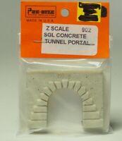 """902 Z-scale  Tunnel Portal """"Concrete """" , Single Track, Made in USA"""
