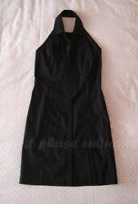 Miss Selfridge Black Halterneck Shirt Dress & Sequin Tie 90s UK 6 / US 2 / EU 34